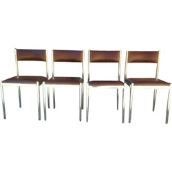 Set of four mid-century chairs - 1970s