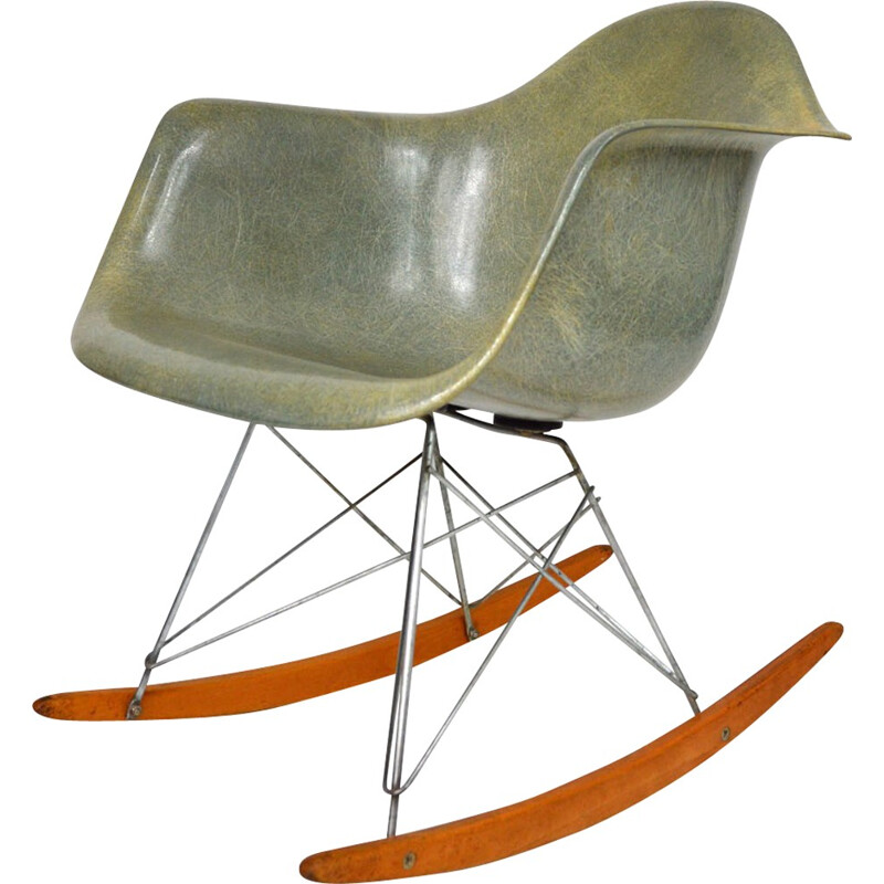 Rocking chair first edition in fiberglass, Charles & Ray EAMES - 1950s