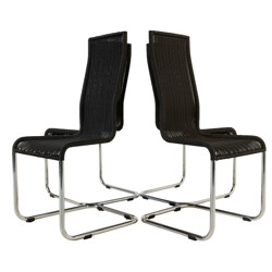 Set of 4 black Tecta B25 Cantiliver chairs - 1970s