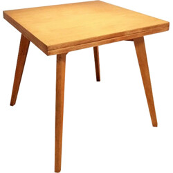 Square extendable dining table in solid oak - 1950s