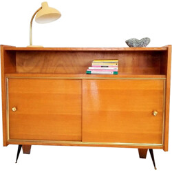 Small cabinet in oak with sliding doors - 1950s