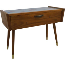 Small sideboard cabinet with glass top - 1950s