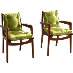 "Pair of ""FS106"" armchairs, Pierre GUARICHE - 1950s"