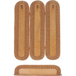 Wicker Jipro coat rack with shelve in wood - 1960s