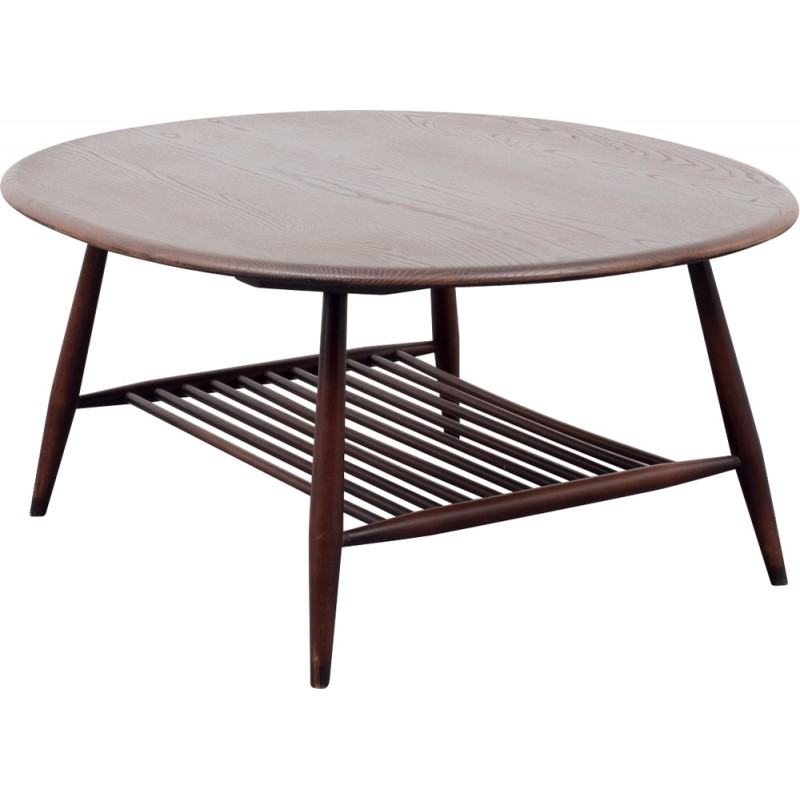 Round Ercol coffee table in ashwood L ERCOLANI 1950s Design Market
