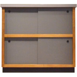 French grey cabinet in wood - 1950s
