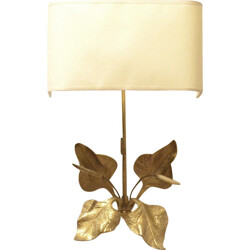 Solid brass wall lamp - 1970s