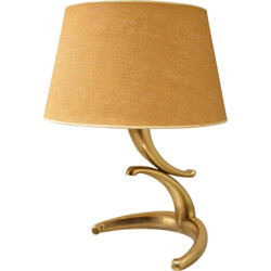 Table lamp in brass and fabric - 1960s