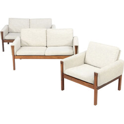 Pair of sofas and one AP 63 armchair, Hans WEGNER - 1960s