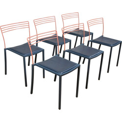Set of 6 Fermob chairs, Pascal MOURGUE - 1990s