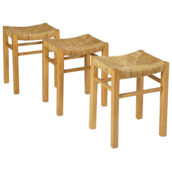 Set of 3 stools, Pierre GAUTIER-DELAYE - 1950s