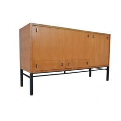 Ash sideboard with drawers and sliding trays, Gerard GUERMONPREZ - 1960s