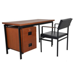 Set of Pastoe desk with its chair, Cess BRAAKMAN - 1960s