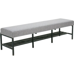 Shoes rack upholstered bench - 1960s
