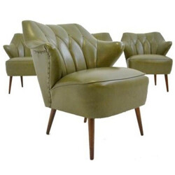 Set of 4 vintage armchairs, Theo RUTH - 1960s
