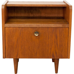 Elegant bedside table with tapered legs - 1950s