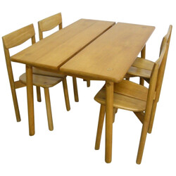 Set of 4 chairs and table, Gautier DELAYE - 1950s
