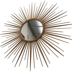 Large Chaty Vallauris mirror 95 cm - 1960s