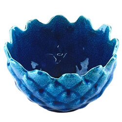 Blue ceramic bowl - 1960s