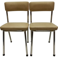 Pair of children's chairs in leatherette - 1970s