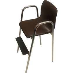 Vintage leatherette children's high chair - 1960s