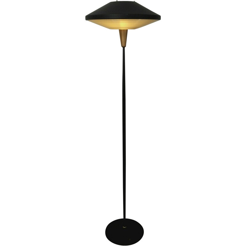Floor lamp in metal and plastic, Louis KALFF - 1960s