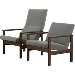 "Pair of Pastoe ""He"" and ""She"" armchairs, Yngve EKSTROM - 1950s"