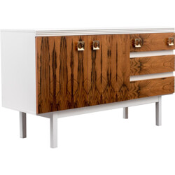 Small white sideboard with rosewood - 1970s