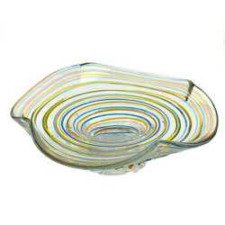 Multicolored fruit bowl in glass - 1960s
