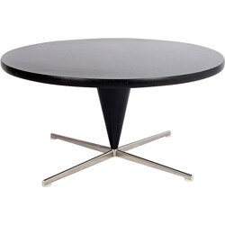 "Mid-century ""Cone"" table in steel and black plastic, Verner PANTON - 1950s"