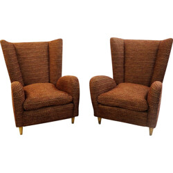 Pair of Italian armchairs in wood - 1950s