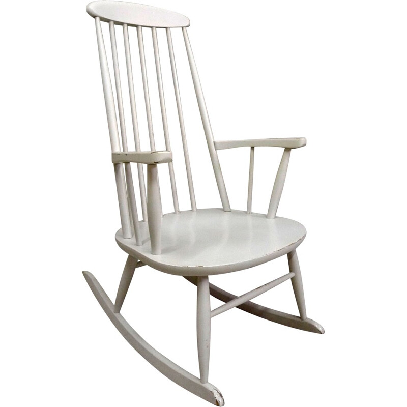 Stol Rocking-chair in wood - 1950s