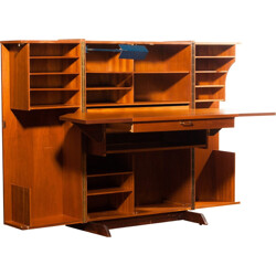 "Mid century ""Magic Box"" desk in teak, MUMENTHALER & MEIER - 1960s"