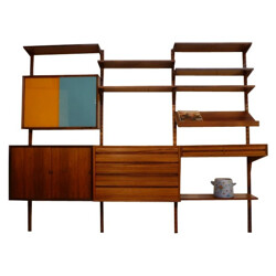 Adaptable rosewood library set, Poul CADOVIUS - 1960s