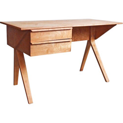 "Dutch ""EB02"" desk in birch, Cees BRAAKMAN  - 1950s"