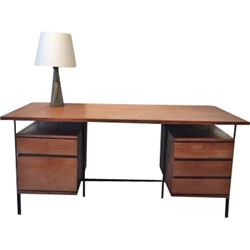 Minvielle desk in wood and metal, ARP -  1960s