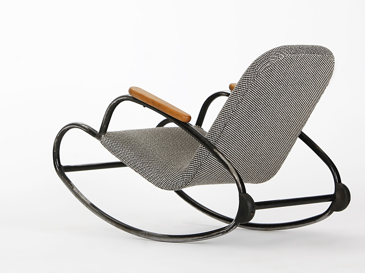 ... re-upholstered childrens rocking chair - 1960s - Design Market