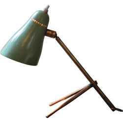 "Oluce ""Ochetta"" table lamp in green lacquered steel, Giuseppe OSTUNI - 1960s"