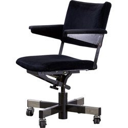 """Gispen """"1637"""" office chair in steel and black fabric, André CORDEMEYER - 1960s"""