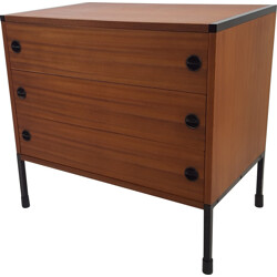 Chest of drawers in mahogany and metal, ARP (Motte, Mortier, Guariche) - 1960s