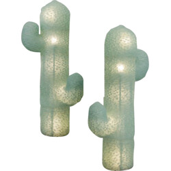 "Pair of ""Cactus"" floor lamps in green Murano glass - 1970s"