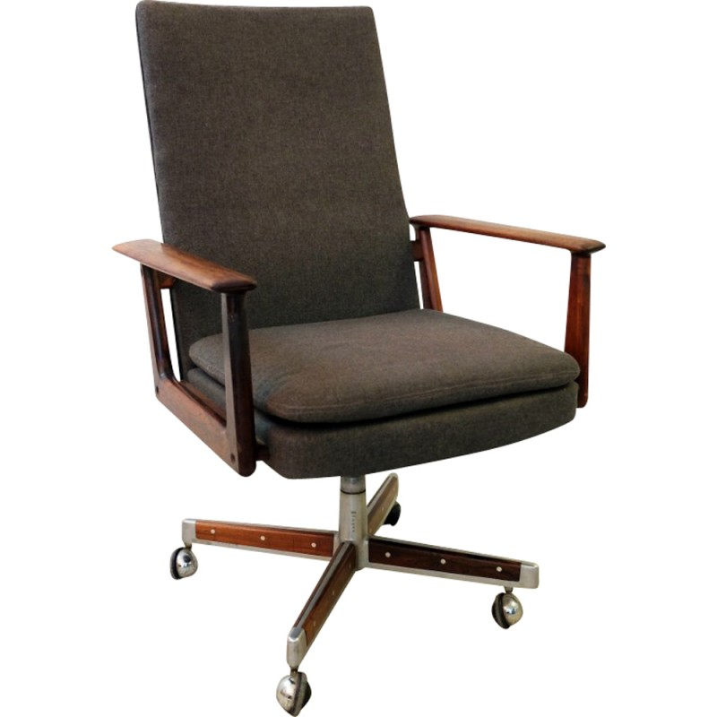Scandinavian Office Chair In Rosewood, Arne VODDER   1960s