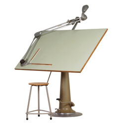 Industrial Nike Hydraulics drawing table - 1950s