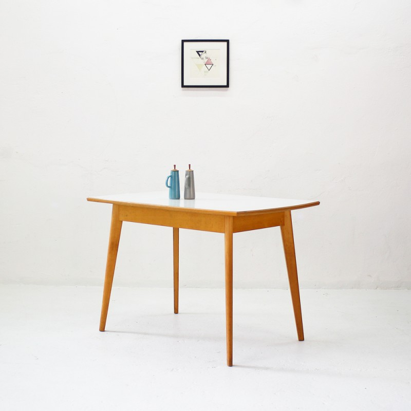 vintage kitchen table with formica top - 1950s - design market