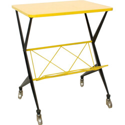 Vintage Yellow Serving Trolley - 1950s