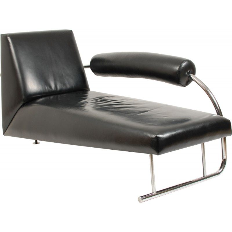 Incredible Dutch Originals Karel Doorman Lounge Chair In Black Leather Rob Eckhardt 1980S Pabps2019 Chair Design Images Pabps2019Com