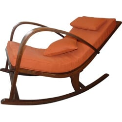 Mid century re-upholstered rocking chair - 1950s
