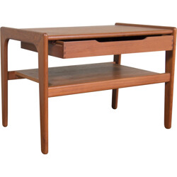 Mid century teak side table with drawer - 1960s