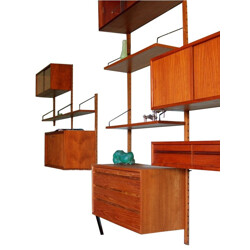 """Waal shelves """"Royal System"""", Poul CADOVIUS - 1950s"""