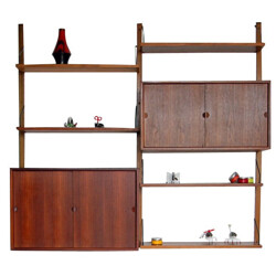 """Wall shelves """"Royal System"""" in teak, Poul CADOVIUS - 1950s"""